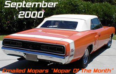 Mopar Of The Month - 1970 Dodge Coronet R/T Convertible By Art Nicholson.