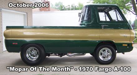 Mopar Of The Month: 1970 Fargo A-100 Truck By Mike Krieger