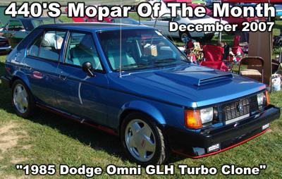 1985 Dodge Omni GLH Turbo Clone By Greg Sultner & Jen Snyder