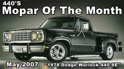 Mopar Of The Month: 1978 Dodge Warlock 440 SE By Fred Gore