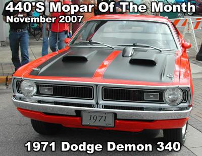 Mopar Of The Month: 1971 Dodge Demon 340 By Chris Evans