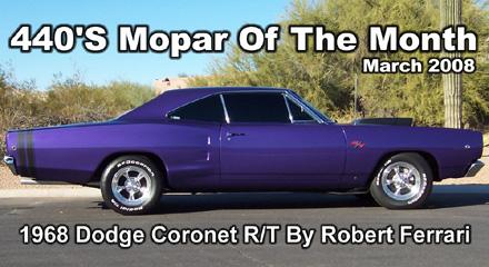 Mopar Of The Month:1968 Dodge Coronet R/T By Robert Ferrari