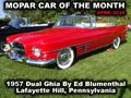 Mopar Car Of The Month - 1957 Dual Ghia By Ed Blumenthal.