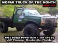 Mopar Truck Of The Month - 1982 Dodge W350 Power Ram 4x4 1 Ton Truck