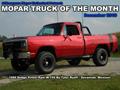 Mopar Truck Of The Month - 1986 Dodge Power Ram W-150 By Tyler Ruoff.
