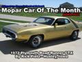 Mopar Car Of The Month - 1972 Plymouth Road Runner GTX