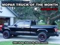 Mopar Truck Of The Month - 2001 Dodge Dakota 4x4 By Steve Downs.