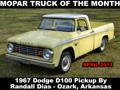 Mopar Truck Of The Month - 1967 Dodge D100 Pickup By Randall Dias.