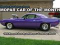 Mopar Car Of The Month - 1970 Plum Crazy Purple Cuda by Jeff Draper.