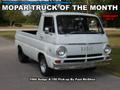 Mopar Truck Of The Month - 1966 Dodge A-100 Pick-up.