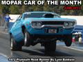 Mopar Car Of The Month - 1972 Plymouth Road Runner By Lynn Baldwin.