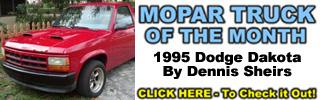 Mopar Truck Of The Month - 1995 Dodge Dakota By Dennis Sheirs.