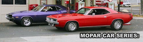 1970 Plymouth Cuda 340 and Dodge Challenger R/T, featured in Mopar Cars 3.0