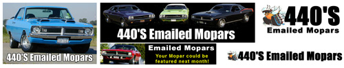 Collection of classic 440'S Emailed Mopars Logo's.