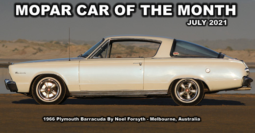 July 2021 Mopar Truck Of The Month - 1966 Plymouth Barracuda