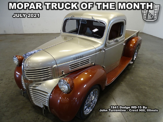 July 2021 Mopar Truck Of The Month - 1941 Dodge WD-15