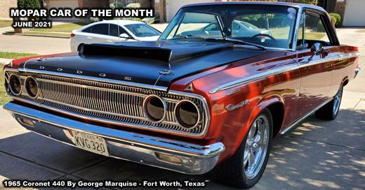 Mopar Car Of The Month - 1965 Coronet 440