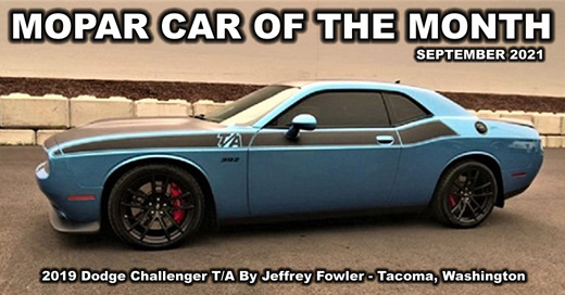 September 2021 Mopar Car Of The Month - 2019 Dodge Challenger T/A